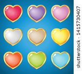 gems hearts 9 colors for puzzle ...