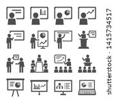 business presentation icon set. ... | Shutterstock .eps vector #1415734517