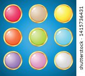gems circle 9 colors for puzzle ...   Shutterstock .eps vector #1415736431