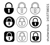 set of simple sign lock icon   Shutterstock .eps vector #1415738021