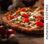 Delicious Vegetarian Pizza On A ...
