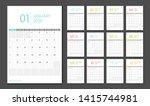 calendar 2020. week start... | Shutterstock .eps vector #1415744981