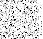 seamless pattern with abstract... | Shutterstock .eps vector #1415745101