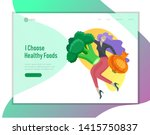 landing page template with... | Shutterstock .eps vector #1415750837