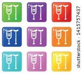 crutch icon. simple... | Shutterstock .eps vector #1415757437