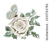 floral arrangement of beautiful ...   Shutterstock .eps vector #1415761781