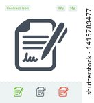 contract   pen   sticker icons. ... | Shutterstock .eps vector #1415783477