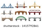 vector bridges. iron bridge set ... | Shutterstock .eps vector #1415792861