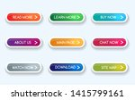 colorful gradient buttons.... | Shutterstock .eps vector #1415799161