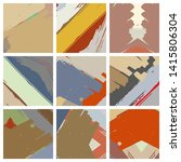 abstract collage asymmetric... | Shutterstock .eps vector #1415806304