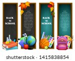 back to school banners with... | Shutterstock .eps vector #1415838854