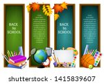 back to school banners with... | Shutterstock .eps vector #1415839607