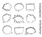 speech bubbles set  halftone... | Shutterstock .eps vector #1415845241