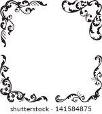 nice classical corner set is... | Shutterstock . vector #141584875