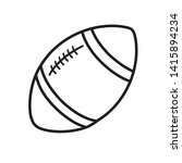 Rugby Ball Line Icon Isolated...