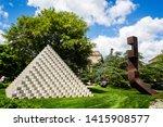 sculpture titled 'four sided... | Shutterstock . vector #1415908577