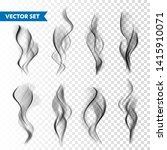 realistic cigarette smoke set... | Shutterstock .eps vector #1415910071