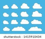 cloud. abstract white cloudy... | Shutterstock .eps vector #1415910434