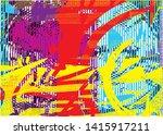 distressed multicolor...   Shutterstock .eps vector #1415917211