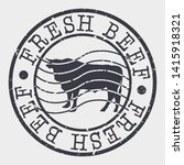 fresh beef stamp. cow cattle... | Shutterstock .eps vector #1415918321
