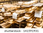 Ripened Cheeses Lying In The...