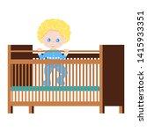 happy  ute baby boy in blue...   Shutterstock .eps vector #1415933351