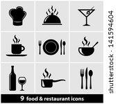 food   restaurant icons set | Shutterstock .eps vector #141594604