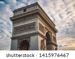 arch of triumph with street view   Shutterstock . vector #1415976467