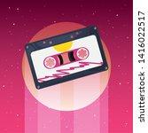 retro 80s style vector... | Shutterstock .eps vector #1416022517