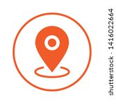 location icon  map pin pointer. ... | Shutterstock .eps vector #1416022664