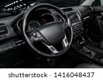 interior view of car with black ... | Shutterstock . vector #1416048437