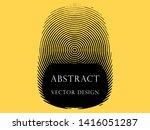 monochrome abstract fingerprint ... | Shutterstock .eps vector #1416051287