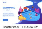 tiny adult people swimming in... | Shutterstock .eps vector #1416052724