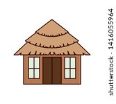 Wooden House On The Beach With...