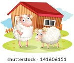 Illustration Of A Sheep Holdin...