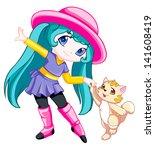 cute little girl | Shutterstock . vector #141608419