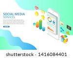 social media services vector...   Shutterstock .eps vector #1416084401