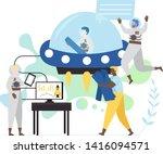 new space technologies  vector... | Shutterstock .eps vector #1416094571