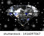 shiny white diamond...   Shutterstock . vector #1416097067