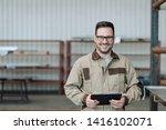 portrait of a factory engineer... | Shutterstock . vector #1416102071