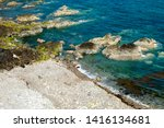 jersey island. beautiful cliffs ... | Shutterstock . vector #1416134681