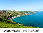 jersey island. beautiful cliffs ... | Shutterstock . vector #1416134684