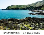 jersey island. beautiful cliffs ... | Shutterstock . vector #1416134687