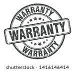 warranty stamp isolated on white   Shutterstock .eps vector #1416146414