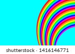 rainbow background  colorful... | Shutterstock . vector #1416146771