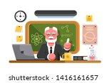 Chemistry Teacher In Classroom...