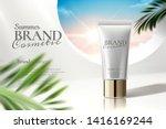 cosmetic tube ads on white... | Shutterstock .eps vector #1416169244