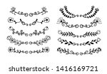 hand drawn borders elements set ... | Shutterstock .eps vector #1416169721