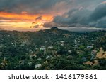 sunset view from runyon canyon...   Shutterstock . vector #1416179861