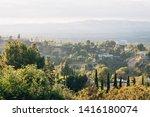 san fernando valley landscape...   Shutterstock . vector #1416180074